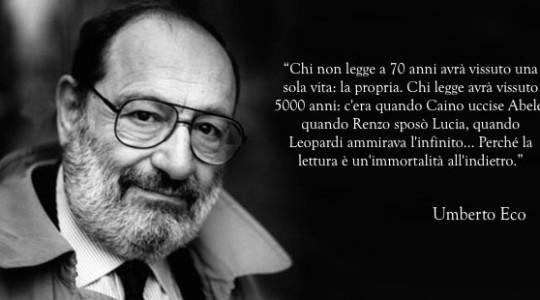 È scomparso il grande intellettuale e scrittore Umberto Eco