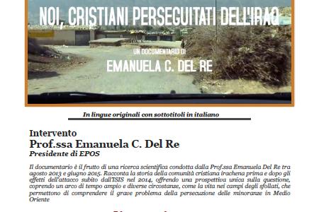 """Proiezione del documentario """"Noi, cristiani perseguitati dell'Iraq"""""""