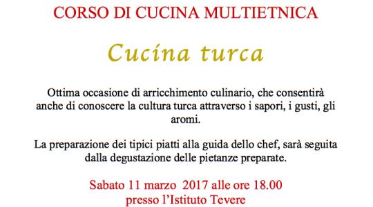 Corso di Cucina Multietnica: Cucina Turca