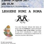 Leggere Rumi a Roma